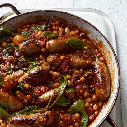 Sausage and bean stew - a delicious recipes from redonline.co.uk   They would be perfect with Heck 97% Pork sausages which are also gluten free!