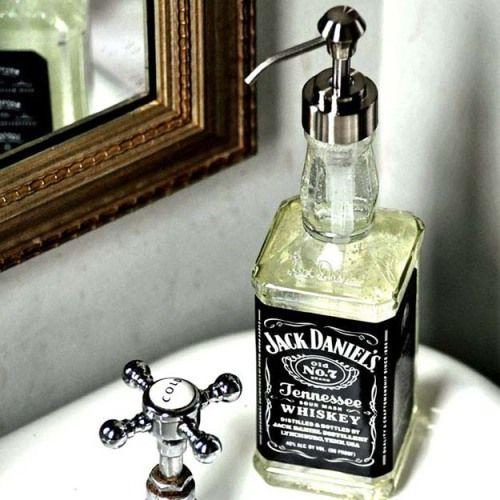 Recycled Jack Daniel's DIY Soap Dispensers
