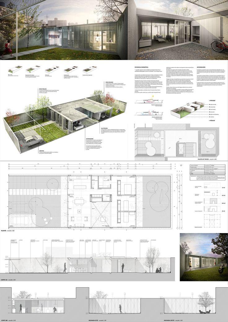 M s de 1000 ideas sobre laminas de presentacion for Plan de arquitectura