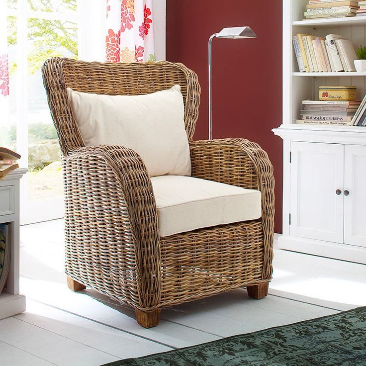 Nice Wickerworks Queen Lounge Chair With Cushions