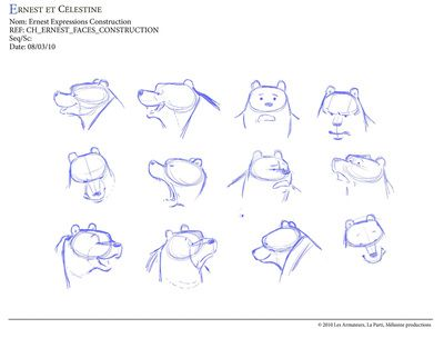 Ernest et Celestine - Character Design Page