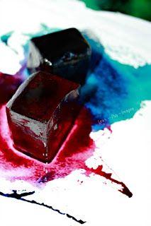 Pintar con hielo tiza y aceite ~ Aprender Jugar Imagina