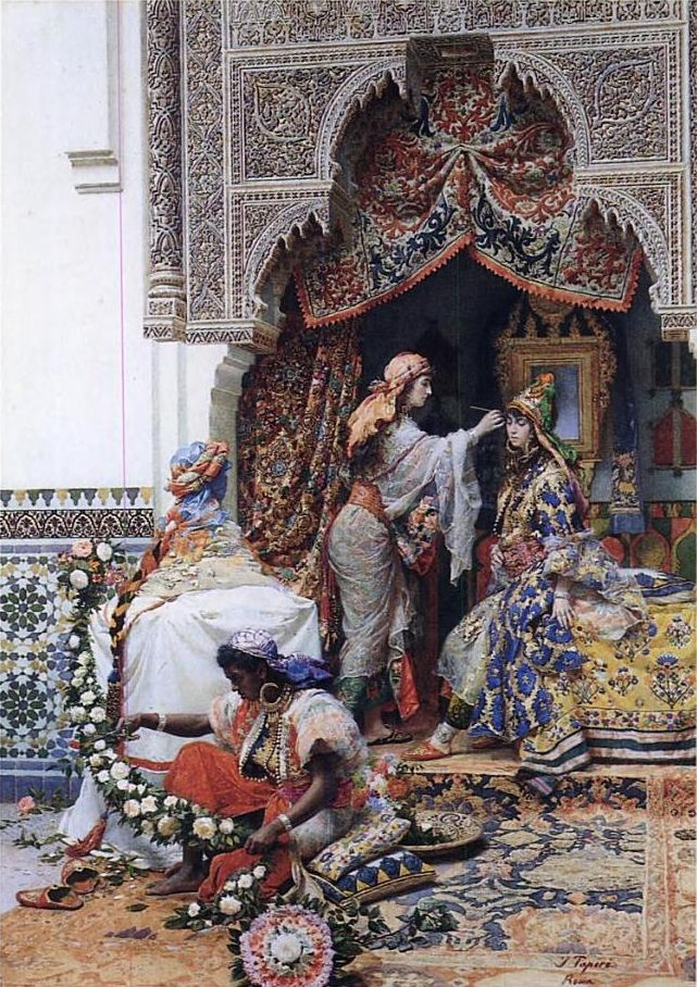 Preparations For The Wedding Of The Chérif's Daughter In Tangiers By José Tapiró Y Baró