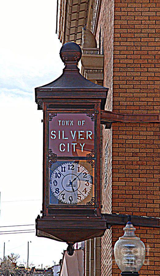 City Clock in Silver City NM by Susanne Van Hulst