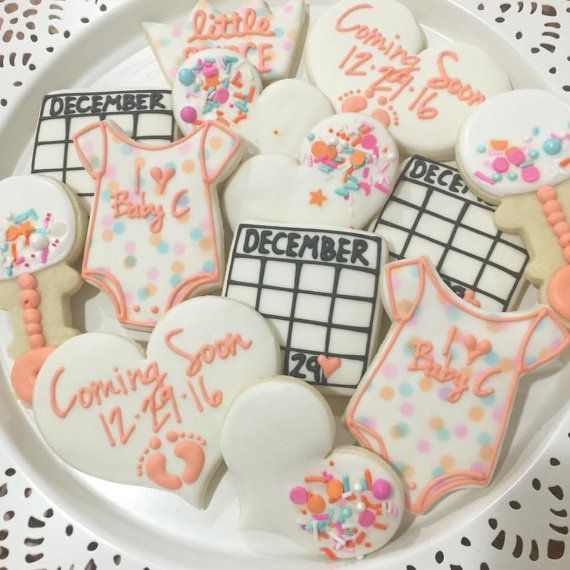 Baby Shower / Pregnancy Announcement / Baby Sprinkle Cookies