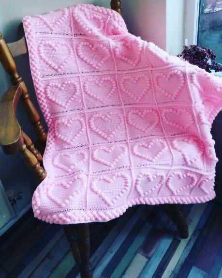 Heart blanket for twin 1 #crochet #crochetblanket #babyblanket #stylecraftspecialdk #twinblankets #crochethearts #handmade #madewithlove