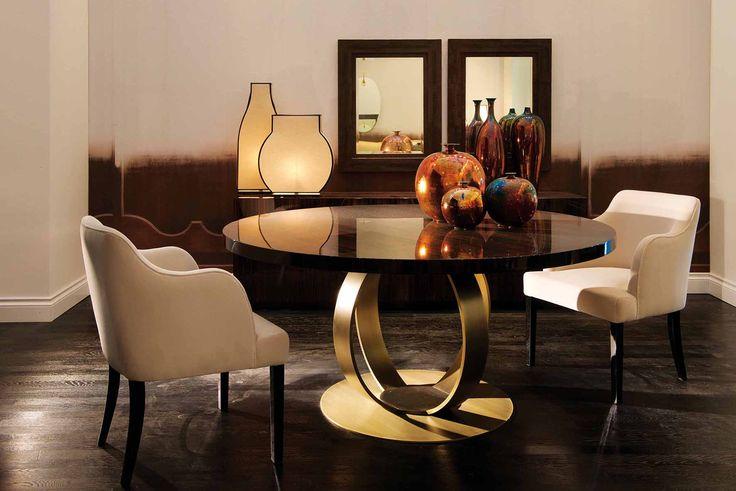 DOM EDIZIONI : TABLE Andrew dinner table Ebony makassar #domedizioni #andrew #dinnertable #ebonymakassar #luxuryliving