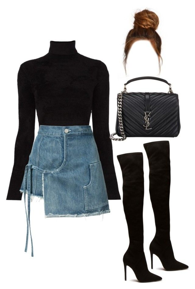 """""""Untitled #4942"""" by lilaclynn ❤ liked on Polyvore featuring A.L.C., Sandy Liang, Yves Saint Laurent, YSL, saintlaurent and yvessaintlaurent"""