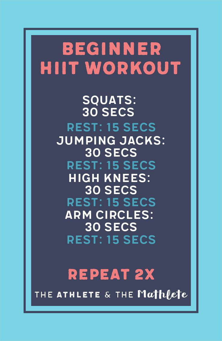 HIIT for beginners can be the best way to keep workouts quick and efficient. HIIT workouts allow you to keep workouts short and burn calories. Save this pin for the next time you hit the gym!