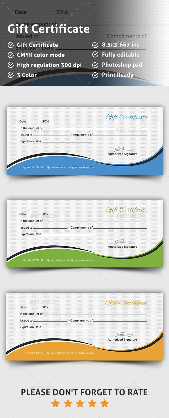 #Gift Certificate - #Certificates Stationery Download here: https://graphicriver.net/item/gift-certificate/14237487?ref=alena994