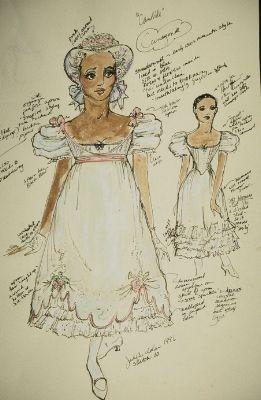 cunegonde, Candide costume sketch