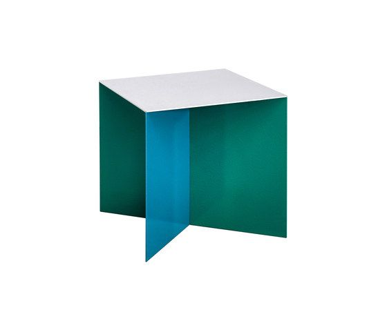 alu square | aluminum top by valerie_objects | Side tables