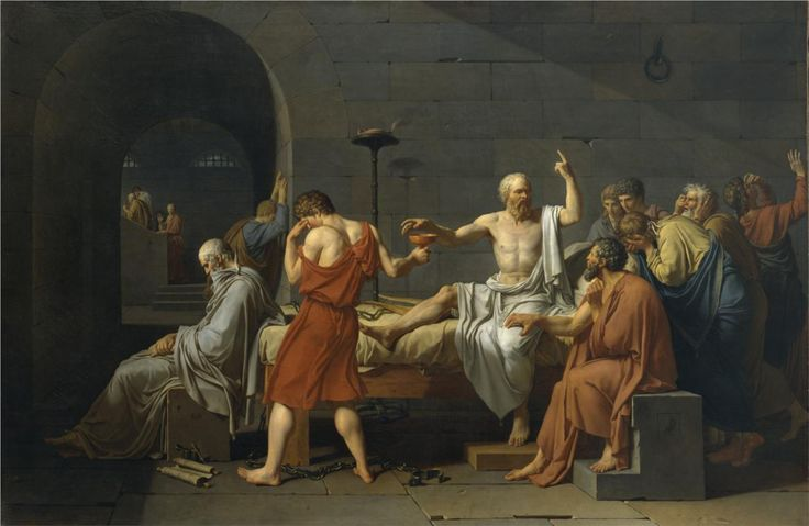 Jacques-Louis David  (1748-1825)  The Death of Socrates  1787  Metropolitan Museum, NYC