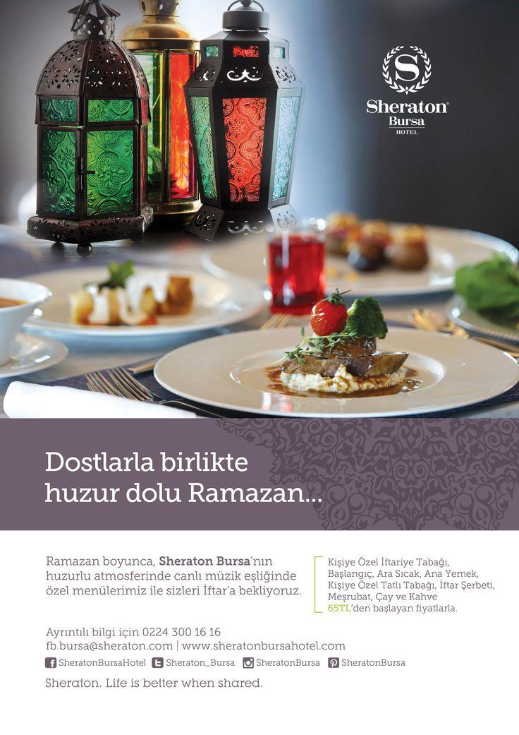Ramazan'da dostlarınız ile birlikte huzur dolu iftarlar geçirmek için sizi Sheraton Bursa'ya davet ediyoruz..   Detaylı bilgi ve rezervasyon için 0224 300 16 16   #sheratonbursa #ramazan #iftar #bursa
