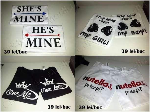 Tricouri cu mesaje pentru cupluri Craiova - imagine 8