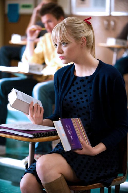 Gwen Stacy - spiderman (Emma Stone) favorite outfit of Gwen's.