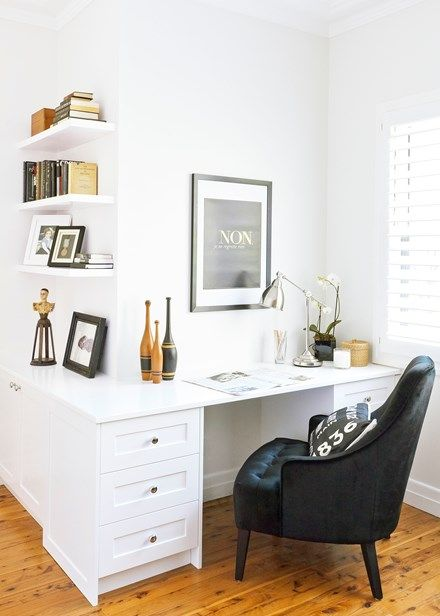 Double up ideas: fit a study in a guest room - Home Beautiful