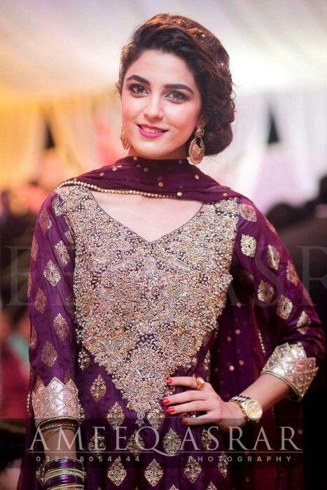 Pakistani Actress Maya Ali  .. Pakistani Bride And Groom ♡ ❤ ♡ Pakistani Wedding Dress, Pakistani Style. Follow me here MrZeshan Sadiq  Photo by Ameeq Asrar Photography   https://m.facebook.com/ameeqasrar.photography/