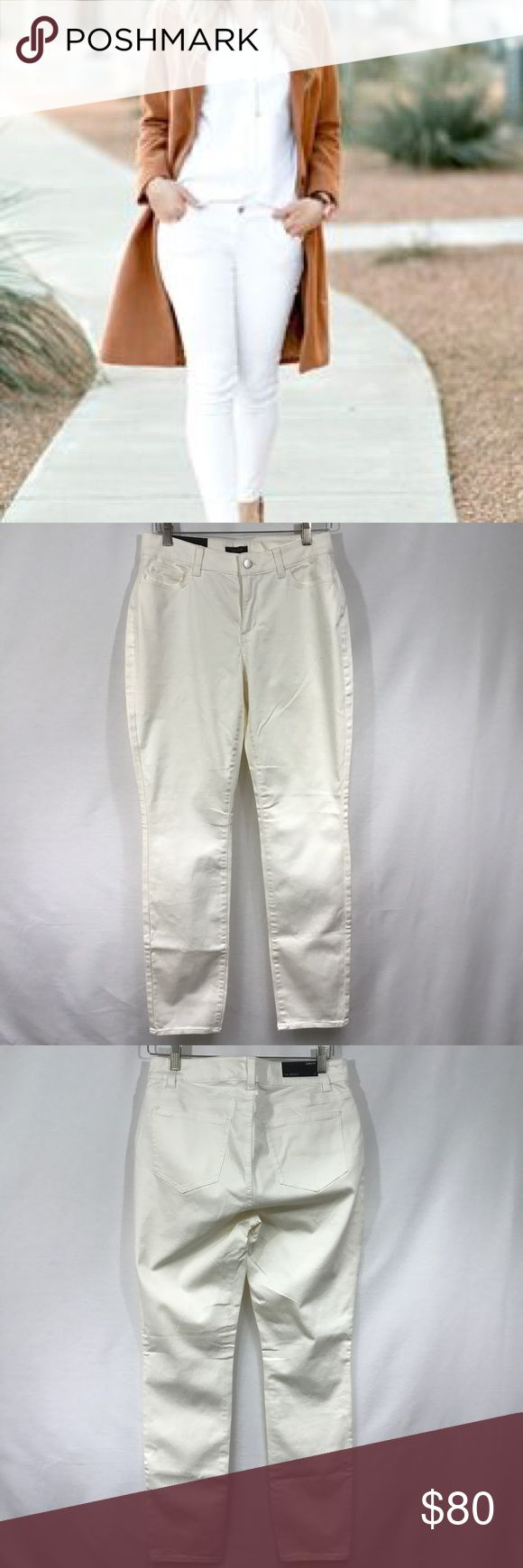 """👓Ann Taylor Curvy Skinny Jeans Sz 10👓 These Ann Taylor pants are the Curvy Skinny fit and are a size 10. They are in the color Whisper White and are NWT -- never worn!! 80% Cotton, 17% rayon, 3% spandex. Measurements approximately: waist 30"""", rise 9.5"""", length 30.5"""". Ann Taylor Pants Skinny"""