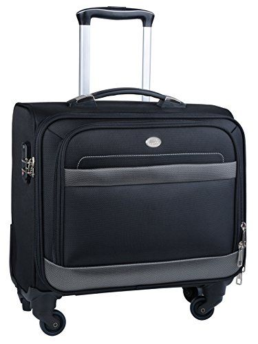 Rolling Laptop Case, COOFIT Nylon Rolling Laptop Briefcase Roller Laptop Bag Carry-on Luggage for 16-Inch Laptop.