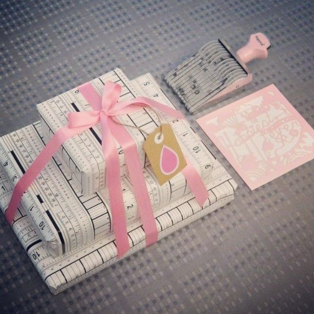 pink, white and black wrapping