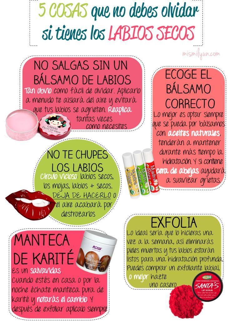5 COSAS que no debes olvidar si tienes los LABIOS SECOS (sobre todo cuando llega el frío) mismilyun.com © Ibuki