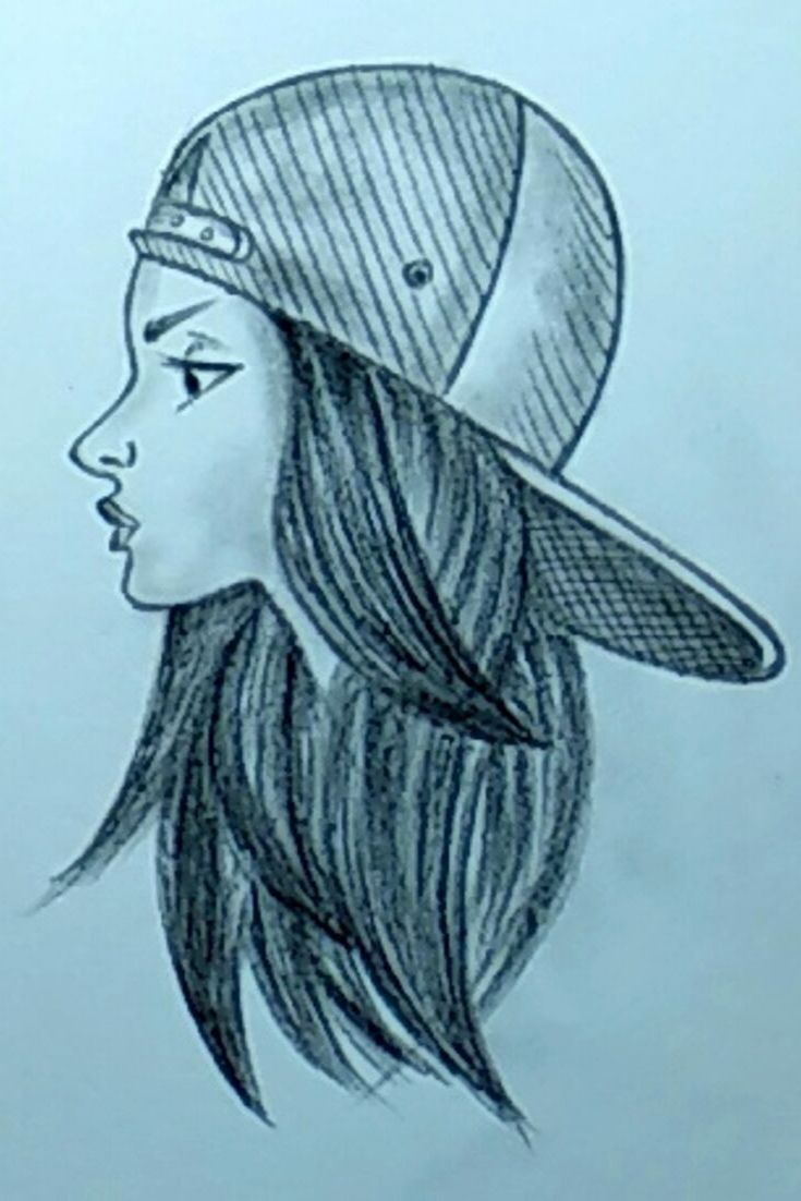 A beautiful girl With Hat Drawing With Pencils ➤Easy   Alkohol