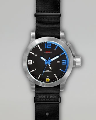 Silver Hypertec Military Tactical Watch, Blue by MTM Special Ops Watch at Neiman Marcus.