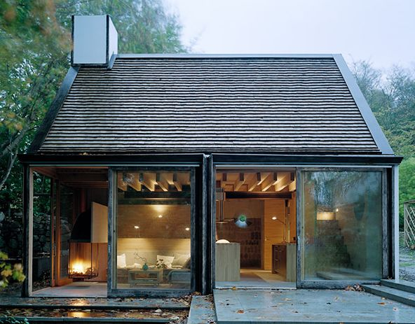 cottage + big doors- this is sort of where I see our garage going. add dormer up for loft office for amar.