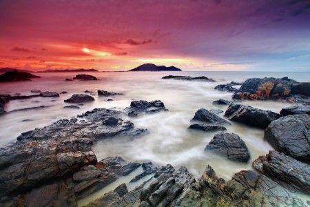 Muslianshah Bin Masrie: Sunset at Turtle Beach, Singkawang.