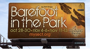 Billboard for Sioux Empire Community Theatre