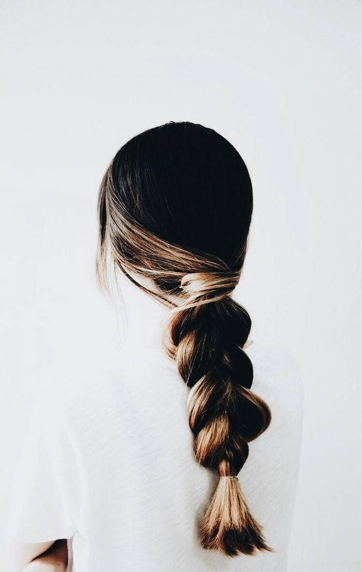 Thick braid.