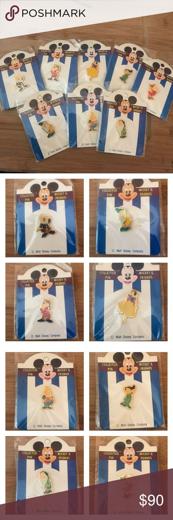 Htf! Snow White and the seven dwarfs collectors Hard to find ! !Very rare new in package Disney Snow White and the seven dwarfs collectors pins ! New in package vintage Disney pins ! #vintage #disney #collectors #snowwhite Disney Other