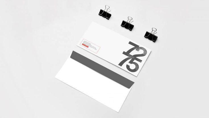 Diseno grafico de Sobre Membretado imagen corporativa de 7275 ® Marca IMPI 2015