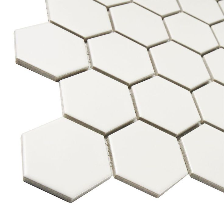 Merola Tile Metro Hex 2 In Matte White 10 1 2 In X 11 In