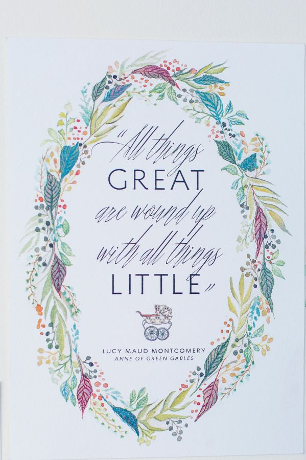 Little things! http://www.stylemepretty.com/living/2015/07/31/anne-of-green-gables-inspired-baby-shower/ | Photography: Danielle Coons - http://daniellecoons.com/