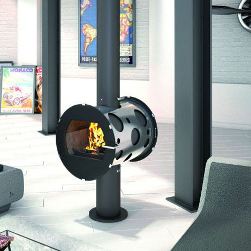 JC Bordelet Integral Double Sided Central Wood Burning Stove