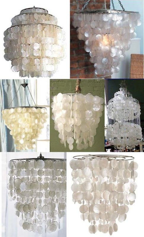 Low to High: Capiz Shell Chandeliers