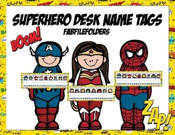 SUPERHERO DESK NAME TAGS-EDITABLE
