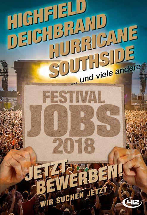 #FESTIVAL /KONZERT #JOBS  #Mega #Events  #Hurricane  Southside  Deichbrand  Highfield... FESTIVAL-/KONZERT-JOBS, Mega-Events: #Hurricane, Southside, Deichbrand, Highfield #uvm.!  Ed Sheeran, #Foo Fighters, #Iron #Maiden, #Scooter, #Depeche #Mode, #Die #Toten #Hosen #und #weitere Konzerte! #Jetzt bewerben: https://mitarbeiter.team412.de/festivaljobs2018.#facebook.php #Von #Kiel #ueber #Hamburg, #Berlin, #Essen, #Leipzig #und #Stuttgart #bis #Muenchen  #das Bewerbungsverfahren