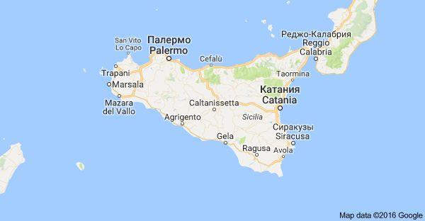 Sizilien, Италия: карта