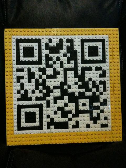 Lego qr code by brickwares, via flickr