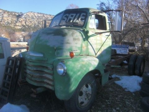 SOLD 1953 CHEVROLET COE CAB OVER ENGINE CAR HAULER PROJECT ...