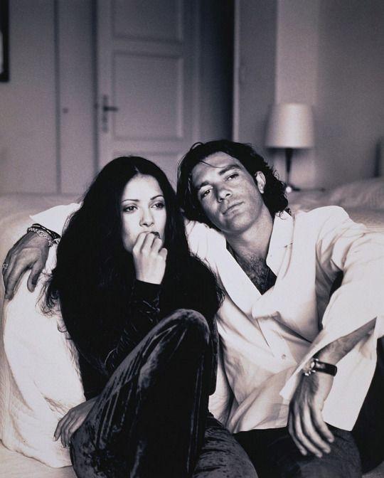 Salma Hayek y Antonio Banderas, 1995