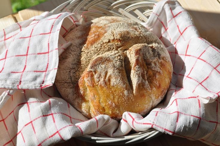 Vaivaamaton vaivaton leipä - No knead bread