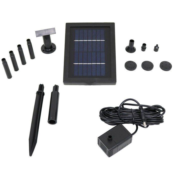 Solar Pump Solar Fountain Diy Solar Fountain Solar Panel Kits