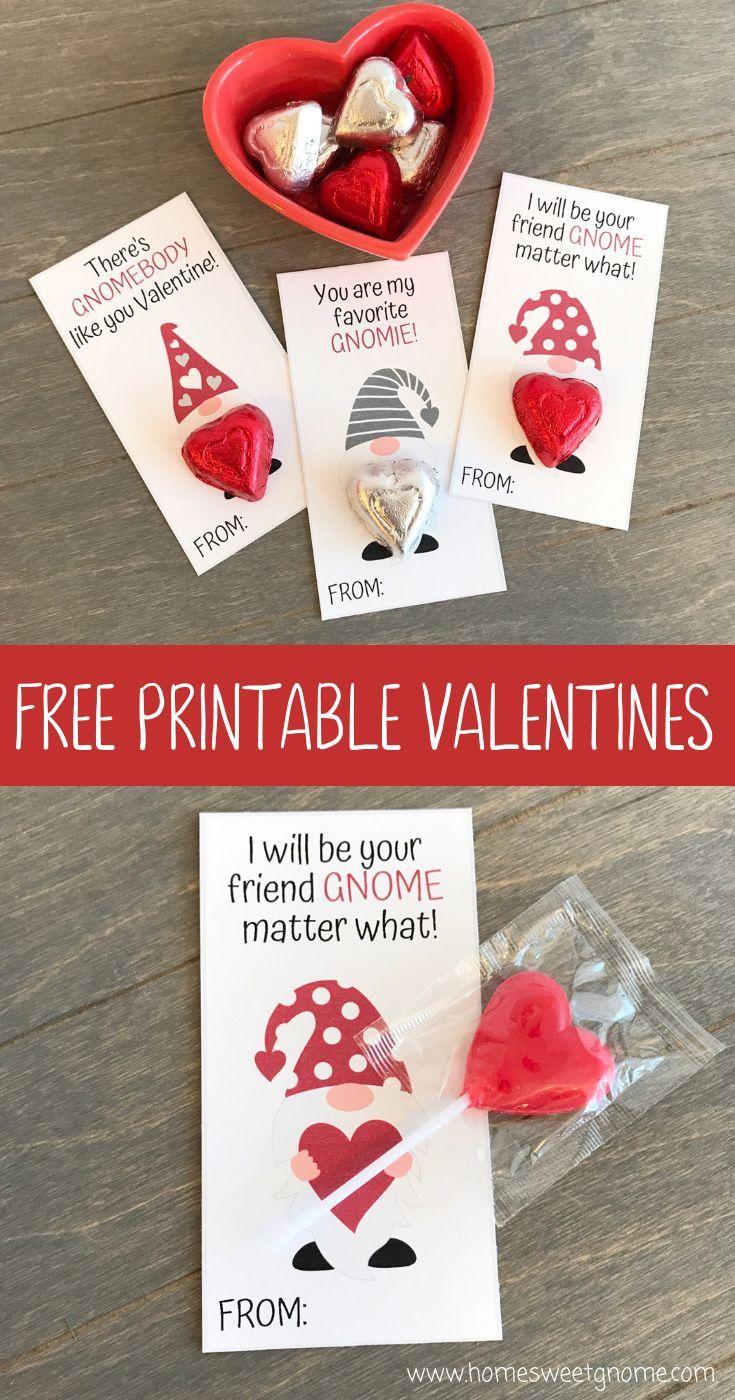 Gnome Valentine S Valentines Printables Free Valentines Printables Valentines School