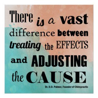 """There is a vast difference between treating the effects and adjusting the cause."" #Chiropractic #Adjustment"