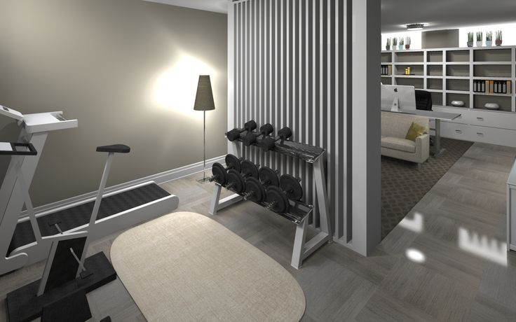 Contemporary Home Gym with High ceiling, Safavieh Cape Cod Natural 5 ft. x 8 ft. Oval Area Rug, Hardwood floors