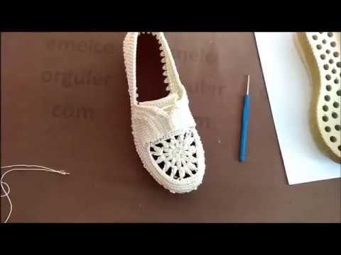 Çeyizlik Örgü Ayakkabı Modeli - YouTube